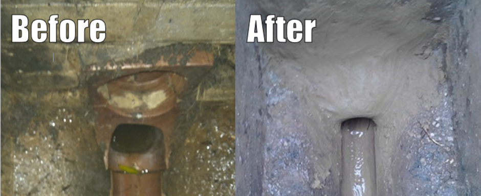 drain interceptor repair